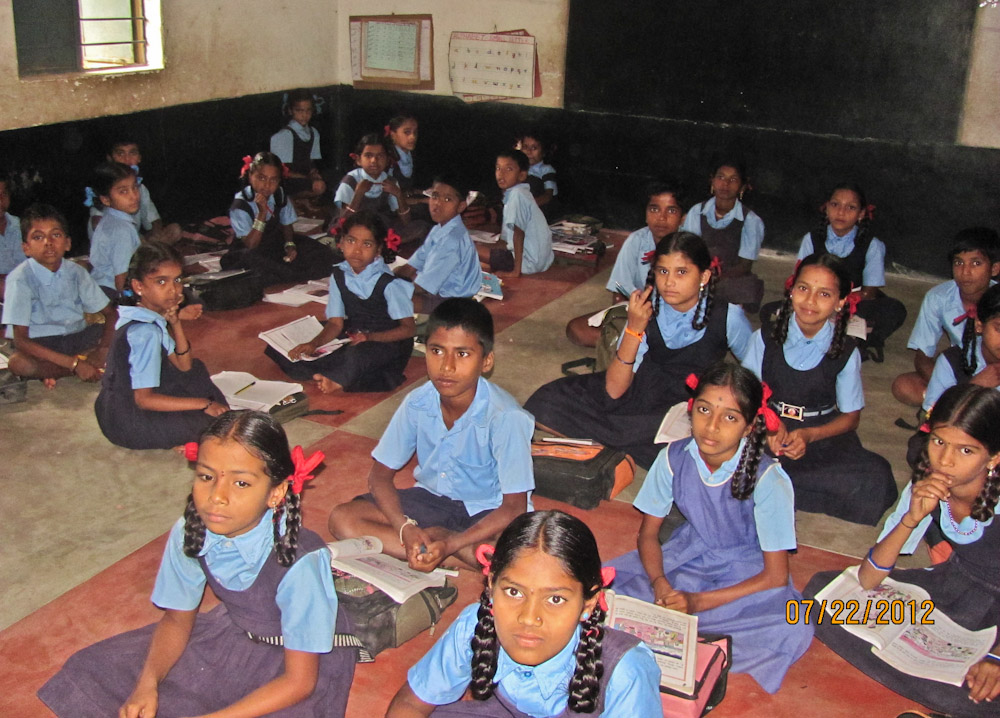 22. No chairs and tables for students of the 7th standard. 22